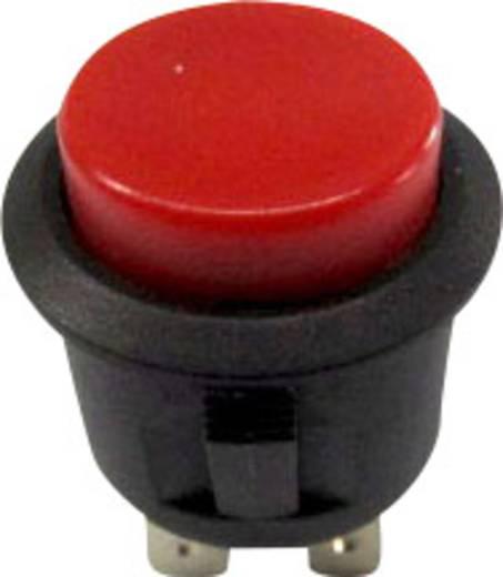 Nyomókapcsoló 250 V/AC 6 A, 1 x ki/be, piros, SCI R13-527B-02RT
