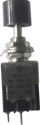 Nyomókapcsoló 250 V/AC 3 A, 1 x be/ki, fekete, SCI PA101A1BK