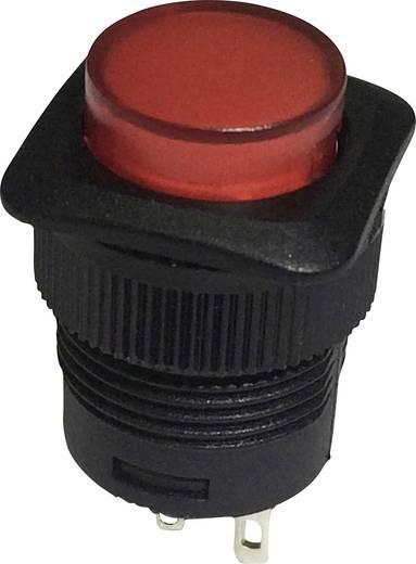 Nyomókapcsoló 250 V/AC 1,5 A, 1 x ki/be, piros, SCI R13-508B-05RT