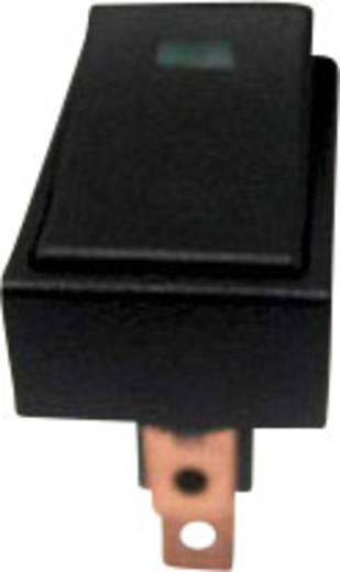 SCI autós billenőkapcsoló, 12V/DC, 25A, 1xbe/ki, zöld LED, R13-207L-SQ GREEN 12V/DC