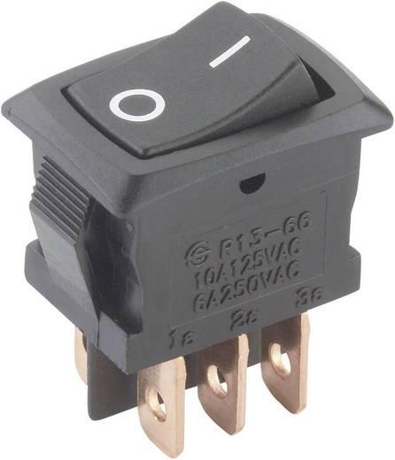 Billenőkapcsoló 250 V/AC 6 A, 2 x be/be, SCI R13-166PB-02 0/I
