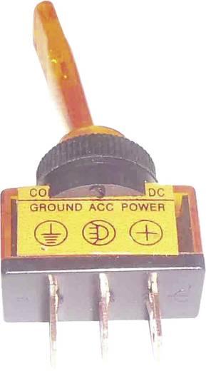 Billenőkapcsoló gépjárműhöz világítással ASW-13D sárga 12 V