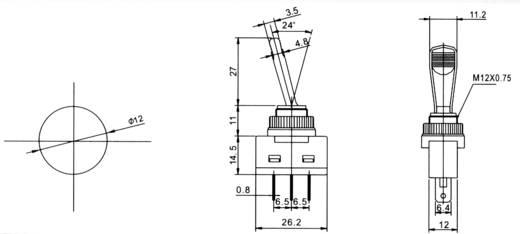 Billenőkapcsoló gépjárműhöz világítással ASW-13D kék 12 V