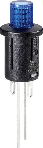 Nyomókapcsoló 250 V/AC 0,5 A, 1 x ki/be, kék, SCI R13-529BLBL