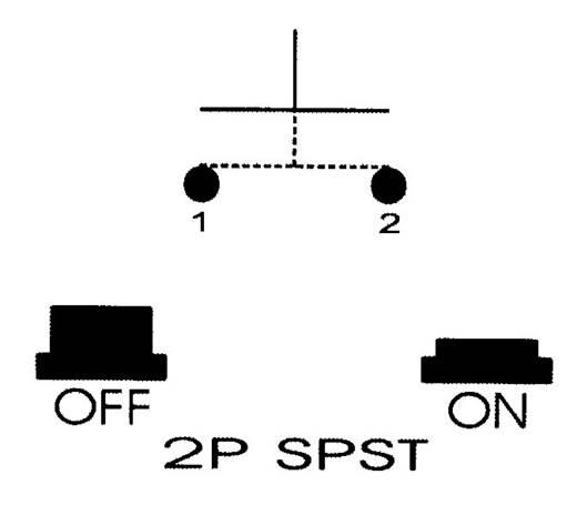 Nyomókapcsoló 250 V/AC 0,5 A, 1 x ki/be, sárga, SCI R13-529BLYL
