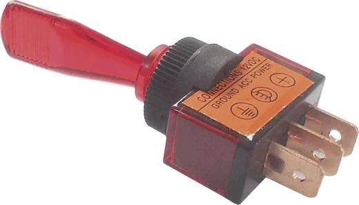 Billenőkapcsoló gépjárműhöz világítással ASW-13D piros 12 V