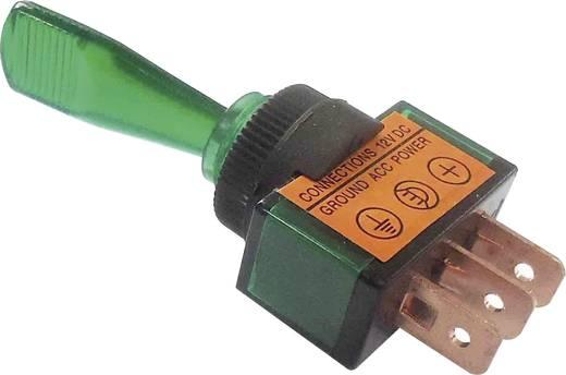 Billenőkapcsoló gépjárműhöz világítással ASW-13D zöld 12 V