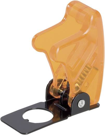 Biztosítósapka átlátszó sárga R17-10