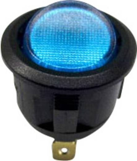 Billenőkapcsoló fekete/kék LED 12V