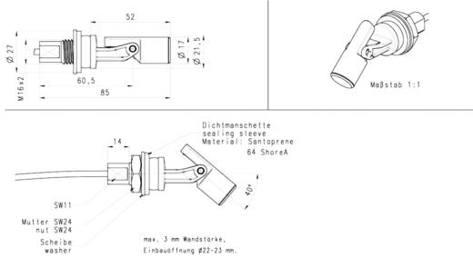 Elobau billenő úszókapcsoló, 1nyító, 1záró, 50W, 204KS12D