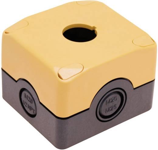 Üres ház 22 mm-es vészkikapcsolóhoz, fekete/sárga, Pizzato Elettrica ES 31001