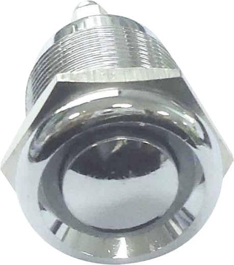 Robosztus nyomógomb, ezüst, 250V/AC, 2A, PBS-28B-3