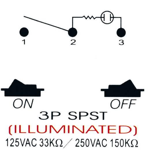 Billenőkapcsoló gépjárműhöz 21A, R13-258B B/G zöld