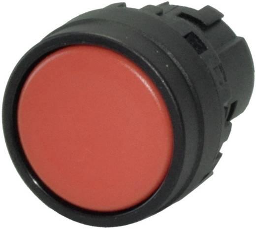 Nyomógomb, lapos, piros, Idec YW1B-M1R
