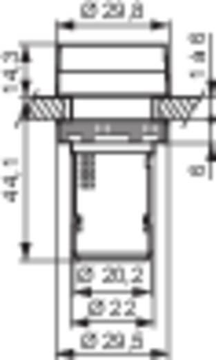LED-es kompakt jelzőlámpa 230 V, fehér, Baco L20SA50H