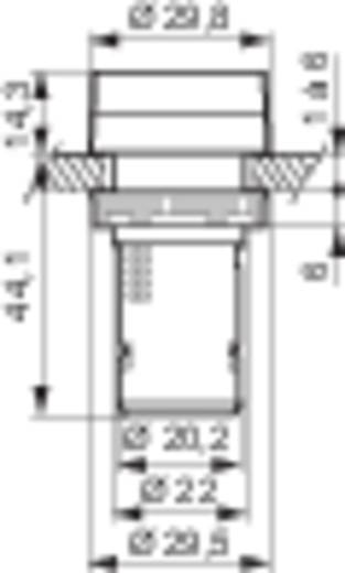 LED-es kompakt jelzőlámpa 230 V, piros, Baco L20SA10H
