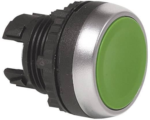 Nyomógomb, L21AA02 lapos, zöld