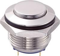 Vandálbiztos nyomógomb 16 mm, 2A/48VDC, nikkel, Tru Components 701829 TRU COMPONENTS