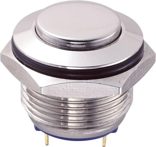 Vandálbiztos nyomógomb, 1xki/(be), 16 mm, 2A / 48VDC, GQ16H-10/J/N