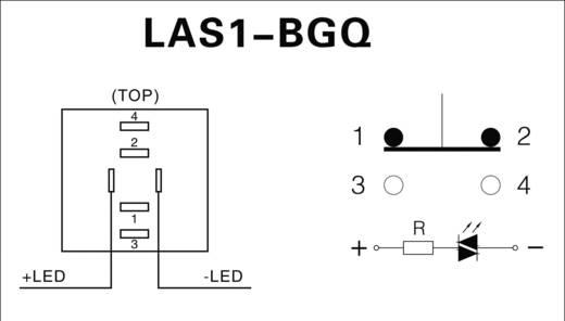 Vandálbiztos kapcsoló 19mm 5A/250VAC zöld, LAS1-BGQ-11ZE/G/12V