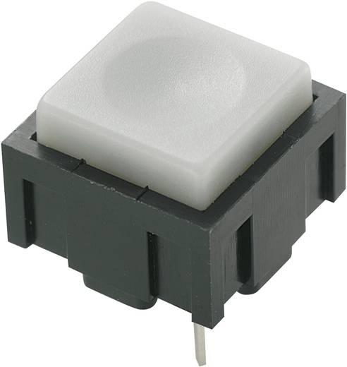 Nyomógomb 50 V DC/AC 0,025 A, 1 x ki/(be), szürke, PBS-18B