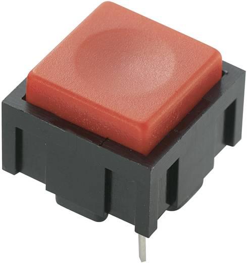 Nyomógomb 50 V DC/AC 0,025 A, 1 x ki/(be), piros, PBS-18B