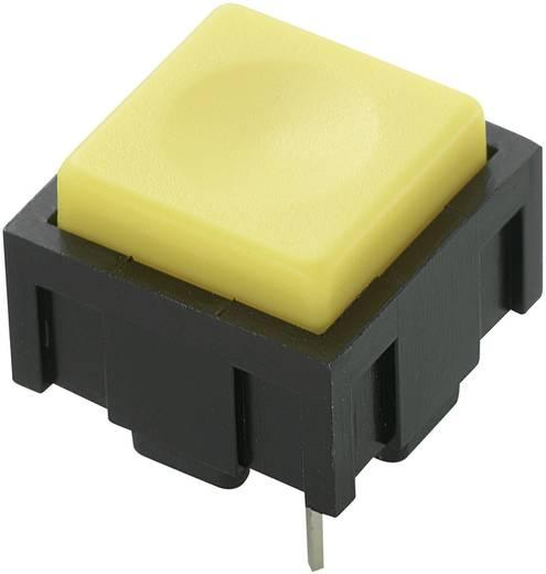 Nyomógomb 50 V DC/AC 0,025 A, 1 x ki/(be), sárga, PBS-18B