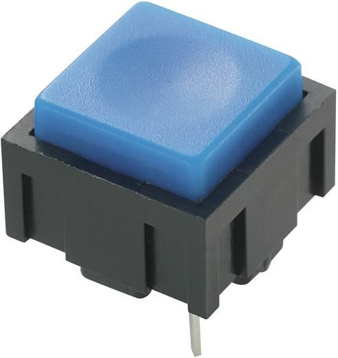 Nyomógomb 50 V DC/AC 0,025 A, 1 x ki/(be), kék, PBS-18B