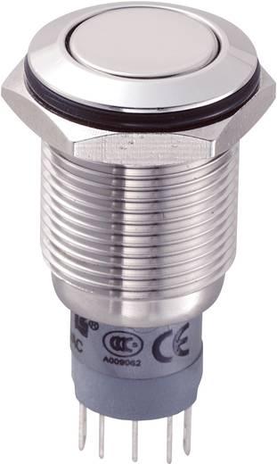 Vandálbiztos nyomógomb, 16 mm, 250V/AC, 3A, LAS2GQF-11/S/P