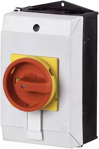 Főkapcsoló 20 A 1 x 90 °, sárga/piros, Eaton T0-3-8342/I1/SVB