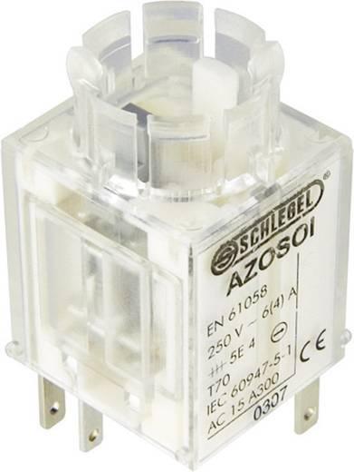 Kapcsoló elem vészleállító gombhoz 250 V/AC 6 A, 2 nyitó/1 záró, Schlegel AZOSOI