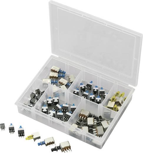 Nyomógombos kapcsoló készlet, 52 részes PPSWKS Nyomógombos kapcsoló készlet max. 30 V/DC max. 0,3 A