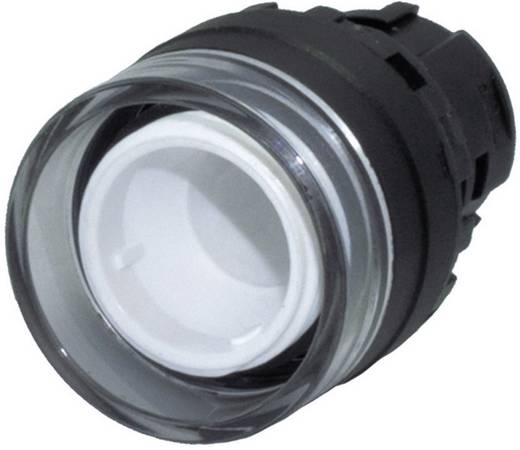 Nyomógomb, világító galléros, fekete, Idec YW1L-AF00