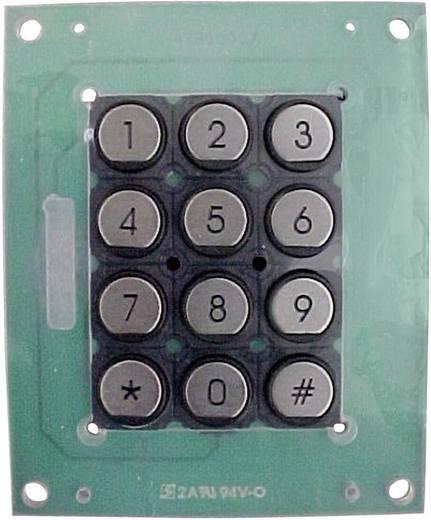 APEM T12PR mátrix billentyűzet nemesacél gombokkal, 3x4, 103x84 mm,