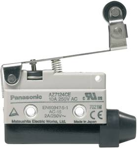 Végálláskapcsoló 115 V/DC, 250 V/AC 10 A Görgős kar Nyomó Panasonic AZ7124CEJ 1 db (AZ7124CEJ) Panasonic