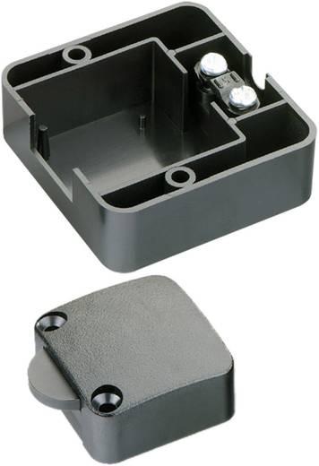 Beépíthető szekrény nyomógomb 250V 1 pólusú fekete.