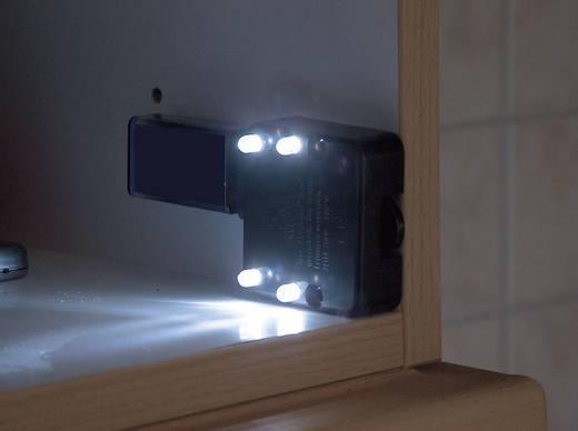 Bútorba építhető kapcsoló LED-es világítással fekete
