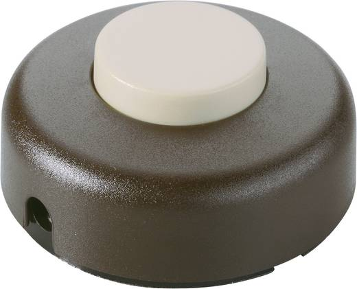 interBär 1 pólusú lábkapcsoló, 2 A 250 V/AC, bézs (barna)