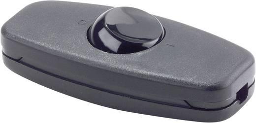 interBär 2 pólusú zsinórkapcsoló, 2 A 250 V/AC, fekete (fekete)