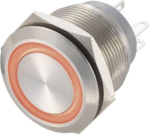 Vandálbiztos nyomógomb 250 V/AC 0,5 A, 1 x ki/(be), IP67, piros