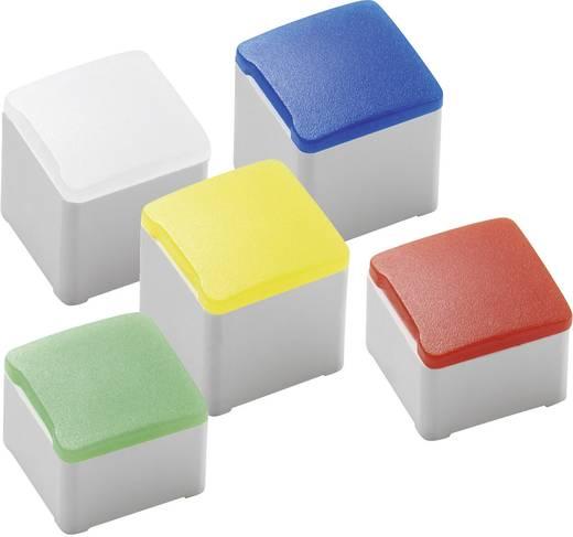 Nyomógomb sapka, négyszögletű 10db-os készletben, fehér színű RAFI 5.05.511.476/2200 Micon 5