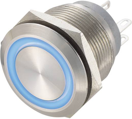 Vandálbiztos nyomógomb 250 V/AC 0,5 A, 1 x ki/(be), IP67, kék