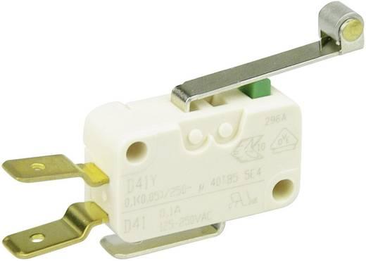 Cherry miniatűr karos mikrokapcsoló, 250V/AC, 1 váltó, csúszósarus, D413-V3RD