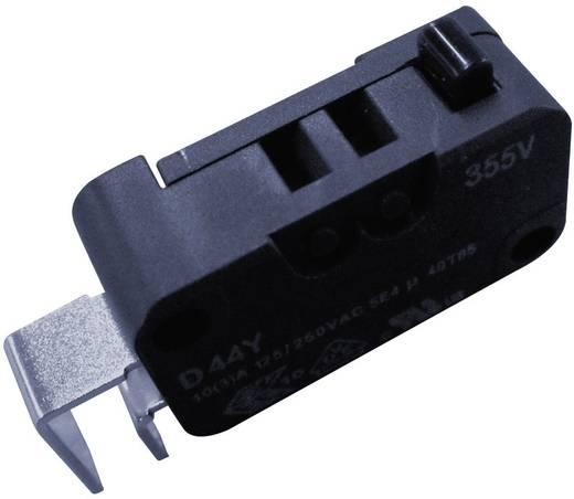 Cherry miniatűr karos mikrokapcsoló, 250V/AC, 1 váltó, nyákba forrasztós, D443-P4AA