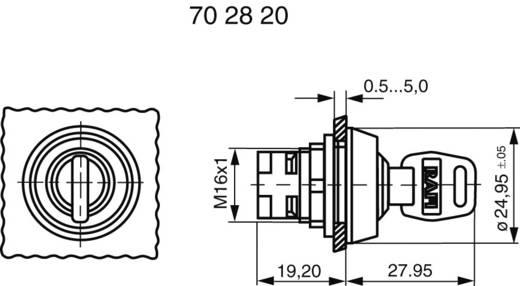 Kulcsos kapcsoló, reteszelhető, 1 x 90 °, RAFI 1.30076.121