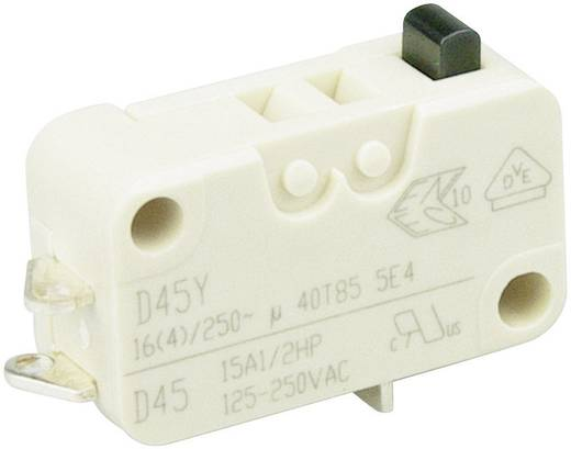 Cherry miniatűr karos mikrokapcsoló, 250V/AC, 1 váltó, forrasztós, D453-B8AA
