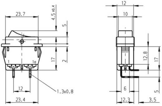 Billenőkapcsoló 16 A, 250 V/AC, 1 x be/ki, Marquardt 1552.4602