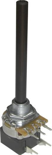 Kapcsolós forgó potméter, 6 mm-es tengely, log 10 kΩ, Potentiometer Service GmbH PC20BU/HS4 CEPS F1 L:65 B10K