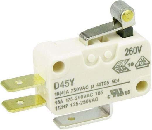 Cherry miniatűr karos mikrokapcsoló, 250V/AC, 1 váltó, csúszósarus, D453-V1RA