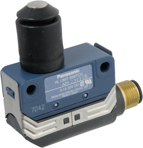 Végálláskapcsoló 125 V/AC 100 mA, IP67, nyomócsapos, Panasonic AZH2311CEJ